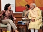 Global CEO of Oracle Safra Catz meets PM Modi