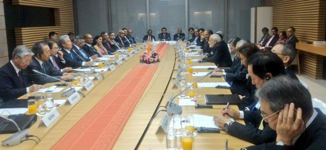 Narendra Modi meets members of India-Japan Business Leaders' Forum