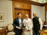 Xiaomi's founder and CEO Lei Jun meets PM Modi