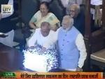 President Pranab Mukhjeree, PM Modi roll out historic GST reform