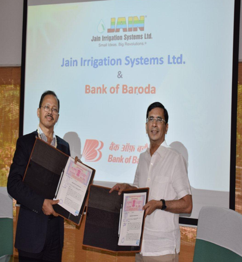 Bank of Baroda enters into MOU with Jain Irrigation Systems Limited