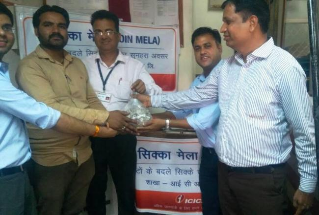 ICICI Bank organises three coin exchange melas at Antah and Baran in Rajasthan