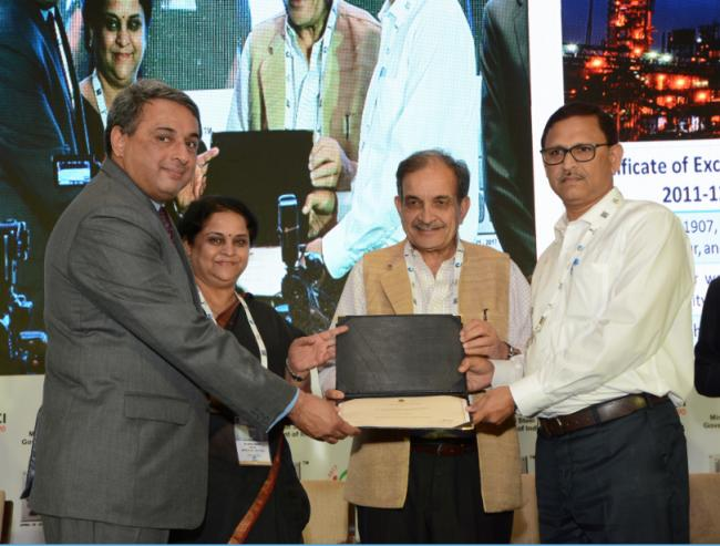 Tata Steel conferred the Prime Minister's trophy for Best Performing Integrated Steel Plant in India for 2013-14
