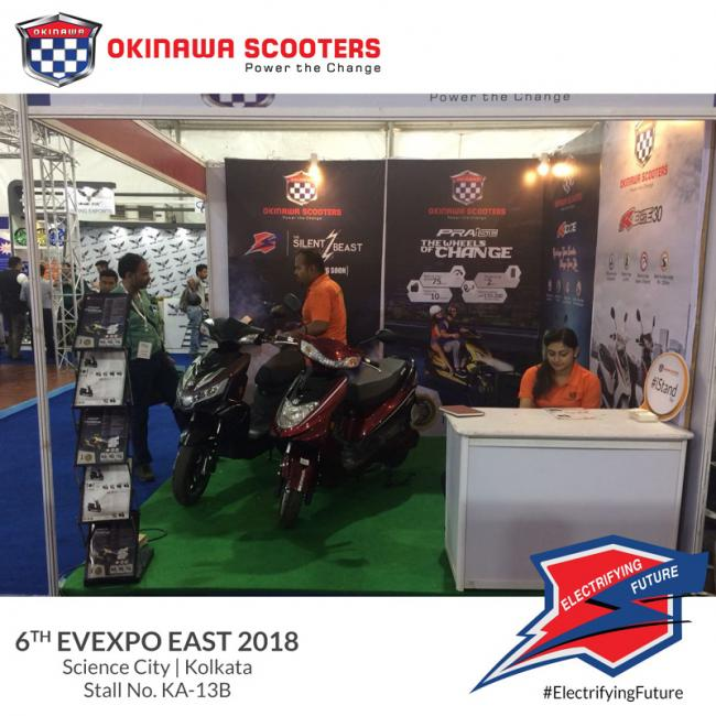 Okinawa Scooters showcases Praise, Ridge & Ridge 30 as key exhibitor at 6th edition of Evexpo East 2018