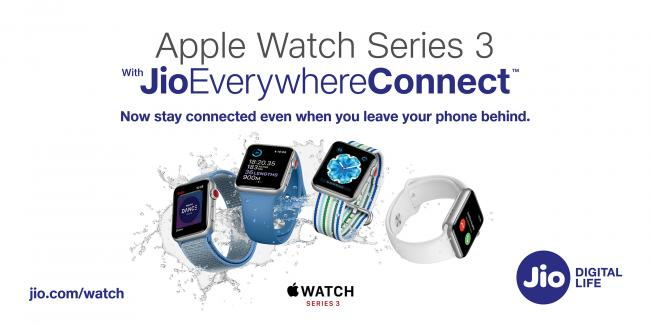 Jio Introduces JioEverywhereConnect for Apple Watch Series 3 users
