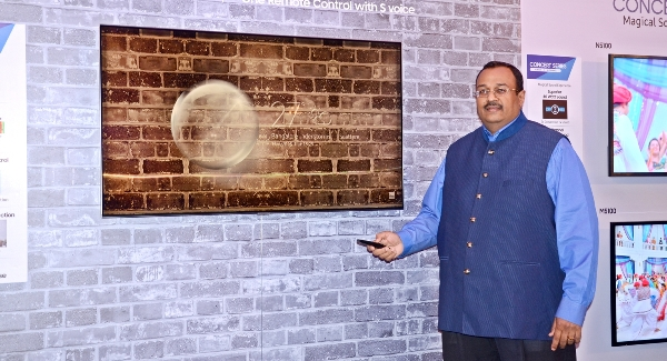 Samsung unveils their 2018 lines of TV sets in Kolkata