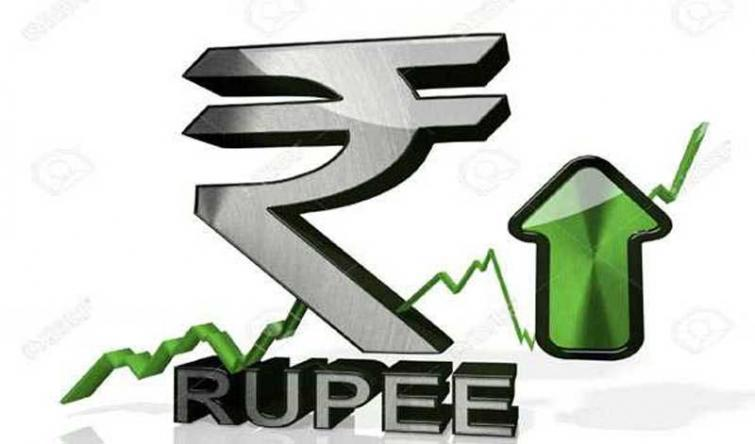 India Rupee rises by 20 paise against USD