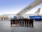 Etihad Airways flies world's first flight using fuel made in UAE from plants grown in salt water by Khalifa University