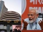 Sensex surges after exit polls predict huge win for Narendra Modi in Lok Sabha polls