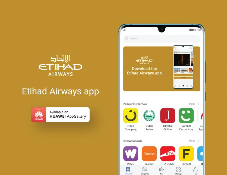 Etihad Airways app launched in Huawei gallery