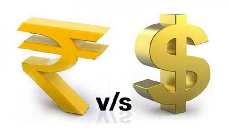Indian Rupee ends up by 8 paise against USD