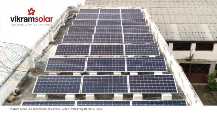 Vikram Solar commissions 164 kWp Rooftop Solar Power Plant at Belur Math