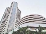 Sensex falls 97.30 pts