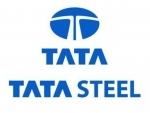 Tata Steel moves up by 5.24 pc to Rs 393.35