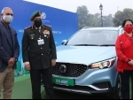 India's first pure electric SUV - MG ZS EV participates in first-ever EV trial-run between Delhi and Agra