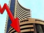 Sensex falls by 580.09 points