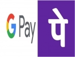 Google Pay and PhonePe most used online payment platform in India