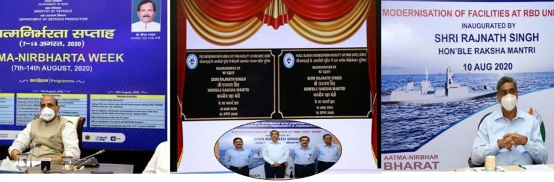 Indian Defence minister Rajnath Singh inaugurates new facilities at GRSE