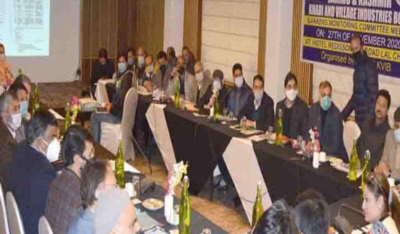 Jammu and Kashmir: VC KVIB chairs bankers meet