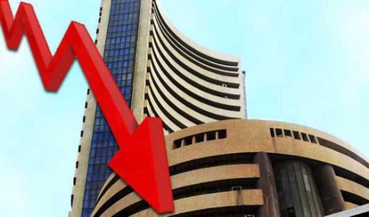 Sensex falls by 37.38 pts