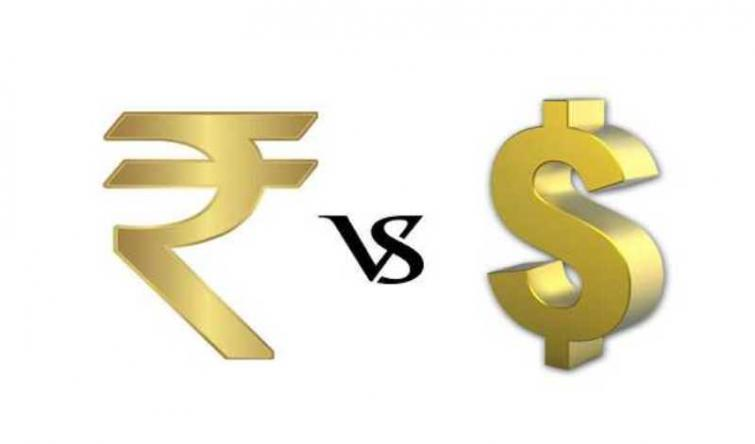 Indian Rupee up by 9 paise against USD