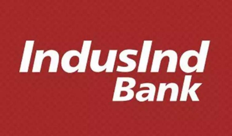 IndusInd Bank moves down by 3.45 pc to Rs 592.75