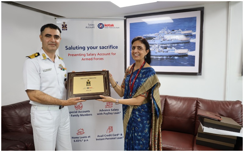 Kotak Mahindra Bank signs MoU with the Indian Navy for salary account