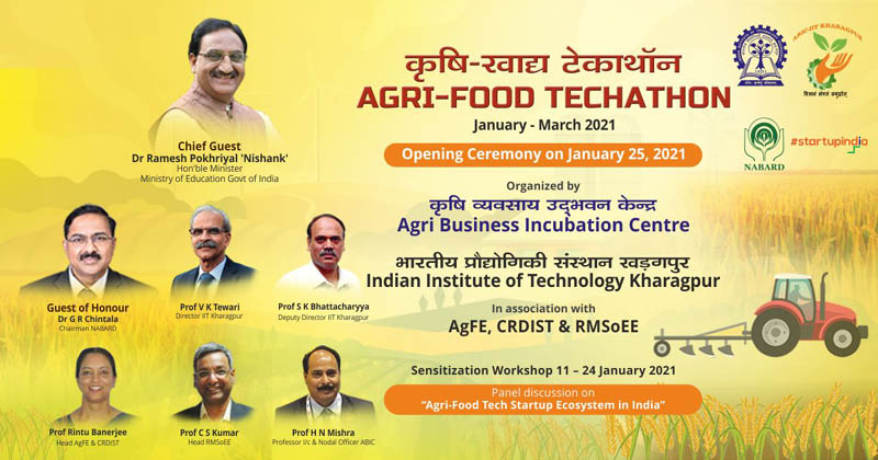 IIT Kharagpur to hold Techathon for Agri-Food Business Incubation to support India's food security commitment