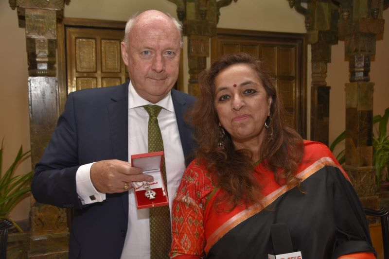 (From L to R) Danish Ambassador H. E. Freddy Svane and Smita Bajoria, Hony. Consul General of Denmark