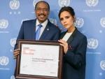 Fashion designer Victoria Beckham joins UN effort to achieve world free of HIV