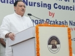 J P Nadda leads Yoga Session at 69th session of WHO SEARO at Colombo
