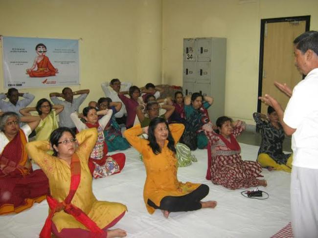 Air India Kolkata celebrates International Yoga Day