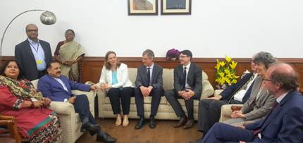 European Nuclear researchers' delegation calls on Jitendra Singh