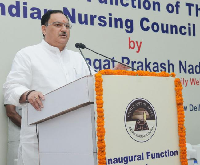 J P Nadda launches new Nurse Practitioner courses and 'Live Register' for Nurses