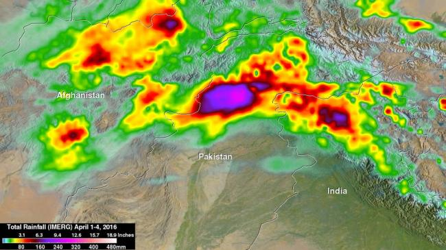 NASA's IMERG measures flooding rainfall in Pakistan