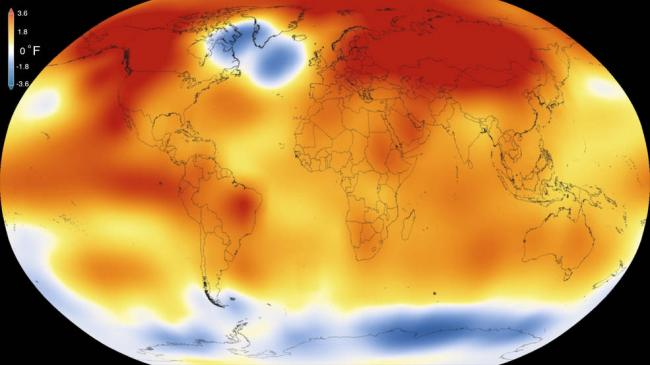 For 11th straight month, the globe was record warm: NOAA