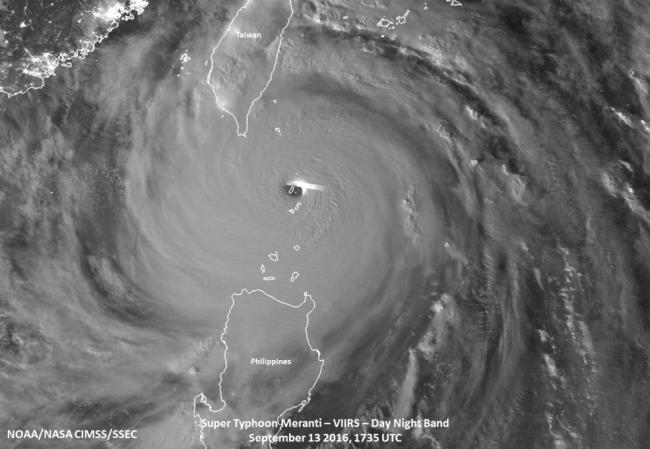 Typhoon Meranti hits China