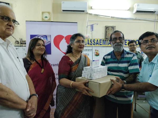 Rotary Club of Calcutta Metro City donates medicine to Thalassaemia Society of India
