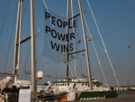 Greenpeace ship Rainbow Warrior arrives in Mumbai showcasing solutions to combat climate change