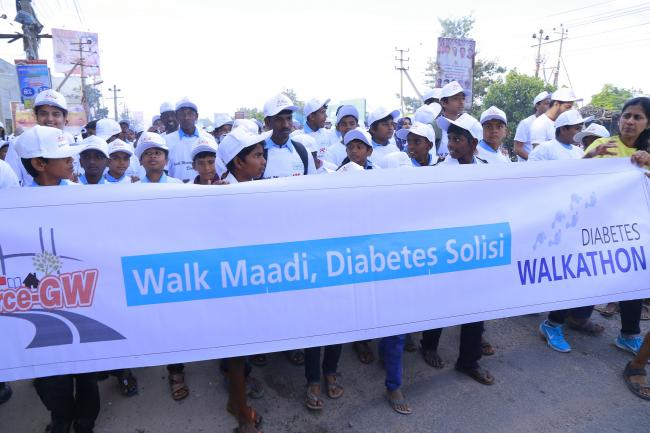 Columbia Asia Hospital, Whitefield in association with FORCE GW organizes Diabetes Walkathon in Whitefield