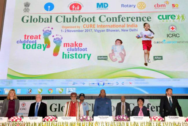 India should resolve to provide treatment to every child born with clubfoot as soon as it is diagnosed, says President Kovind