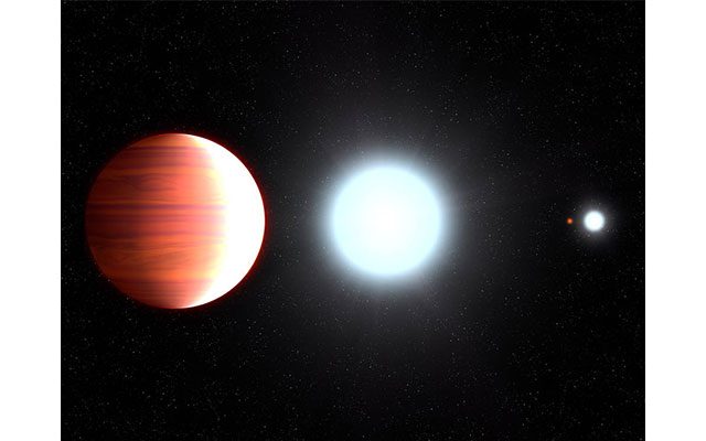 Hubble observes exoplanet that snows sunscreen