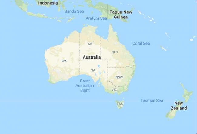 Young Australia Map.Young Australian Females Have Lower Lifestyle Risk For Chronic