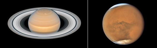 Saturn and Mars team up to make their closest approaches to Earth in 2018