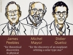 Nobel Prize in Physics awarded to James Peebles, Michel Mayor, Didier Queloz