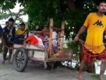 Assam: Pregnant woman carried on handcart to hospital