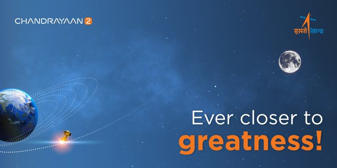 India's Chandrayaan 2 leaves Earth's orbit, now moves towards moon