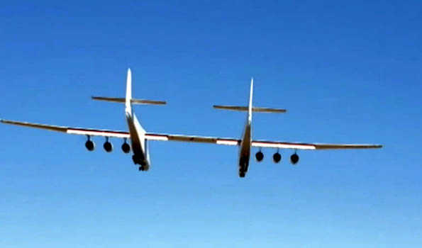 'World's largest plane' lifts off for first time