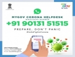 Govt sets up MyGov Corona Helpdesk on WhatsApp