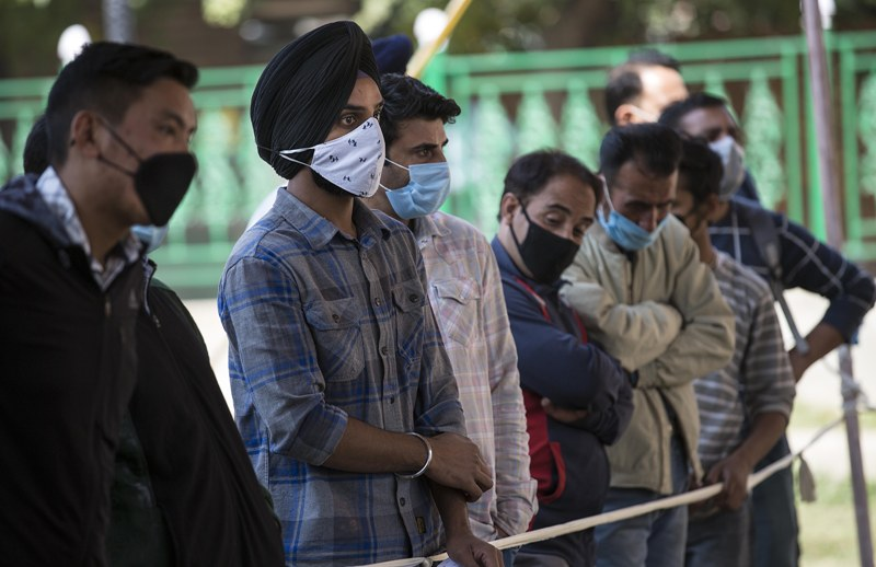 India adds 61,871 fresh Covid-19 infections in last 24 hrs, tally nears 75-lakh mark
